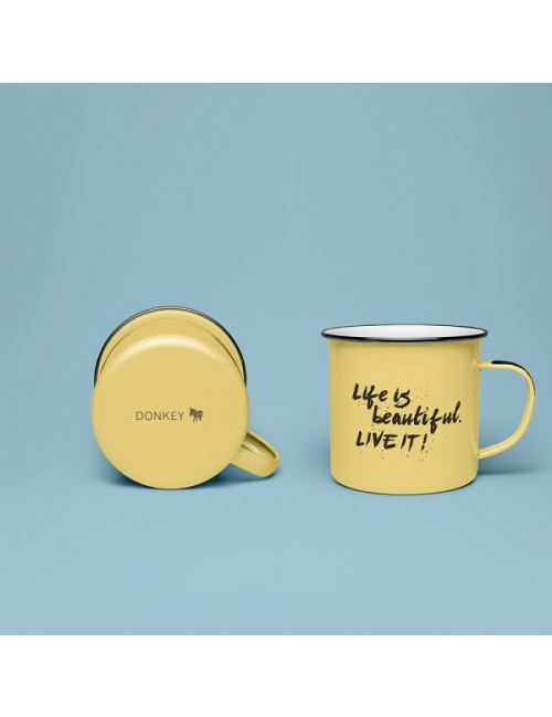 Kopp - Enamel Quotes (Life is Beautiful)