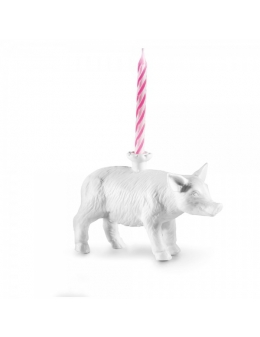 Ljusstake - Happy Zoo-Day - Lucky (Pig)