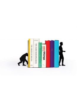 Bogstøtte - Evolution Bookend (Sort)