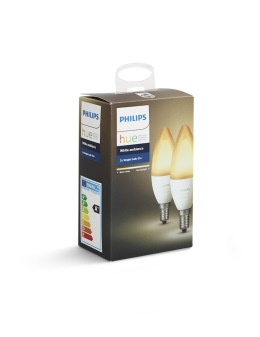 Philips Hue White Ambiance 2-pack - 6W, B39, E14