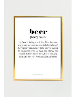 Beer Definition 30x40