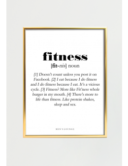 Fitness Definition 30x40